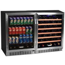 48 inch wide 53 bottle 148 can sidebyside wine and beverage center